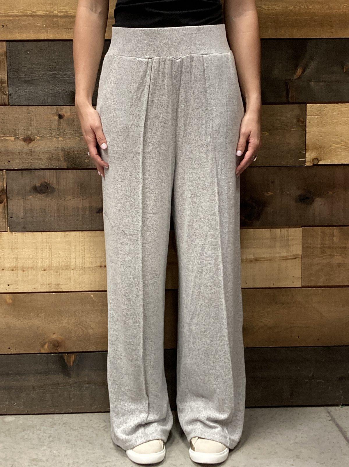 Super Soft Wide Leg Pant, Heather Grey