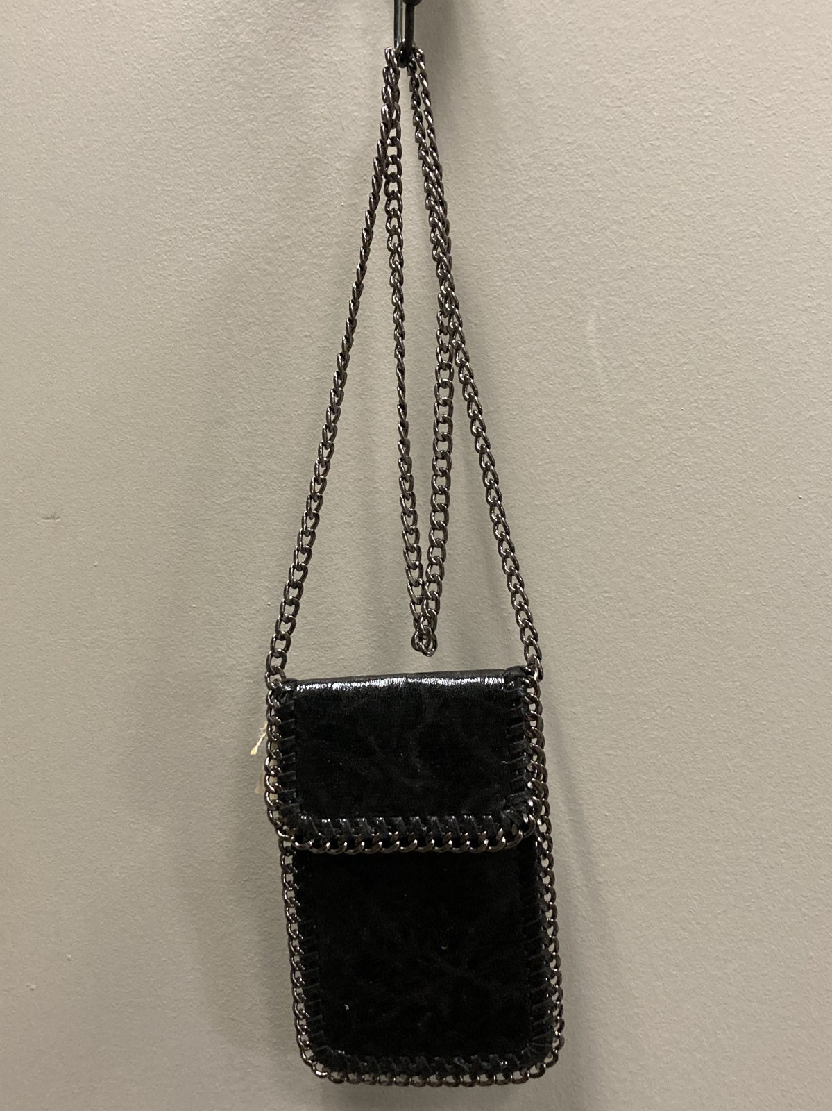 Crossbody Mini Bag With Fold Over Closure, Black