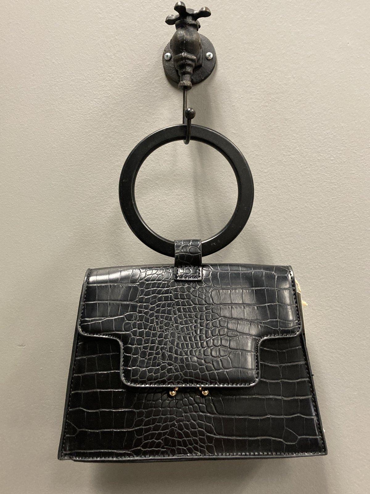 Handbag With Shoulder Strap, Black