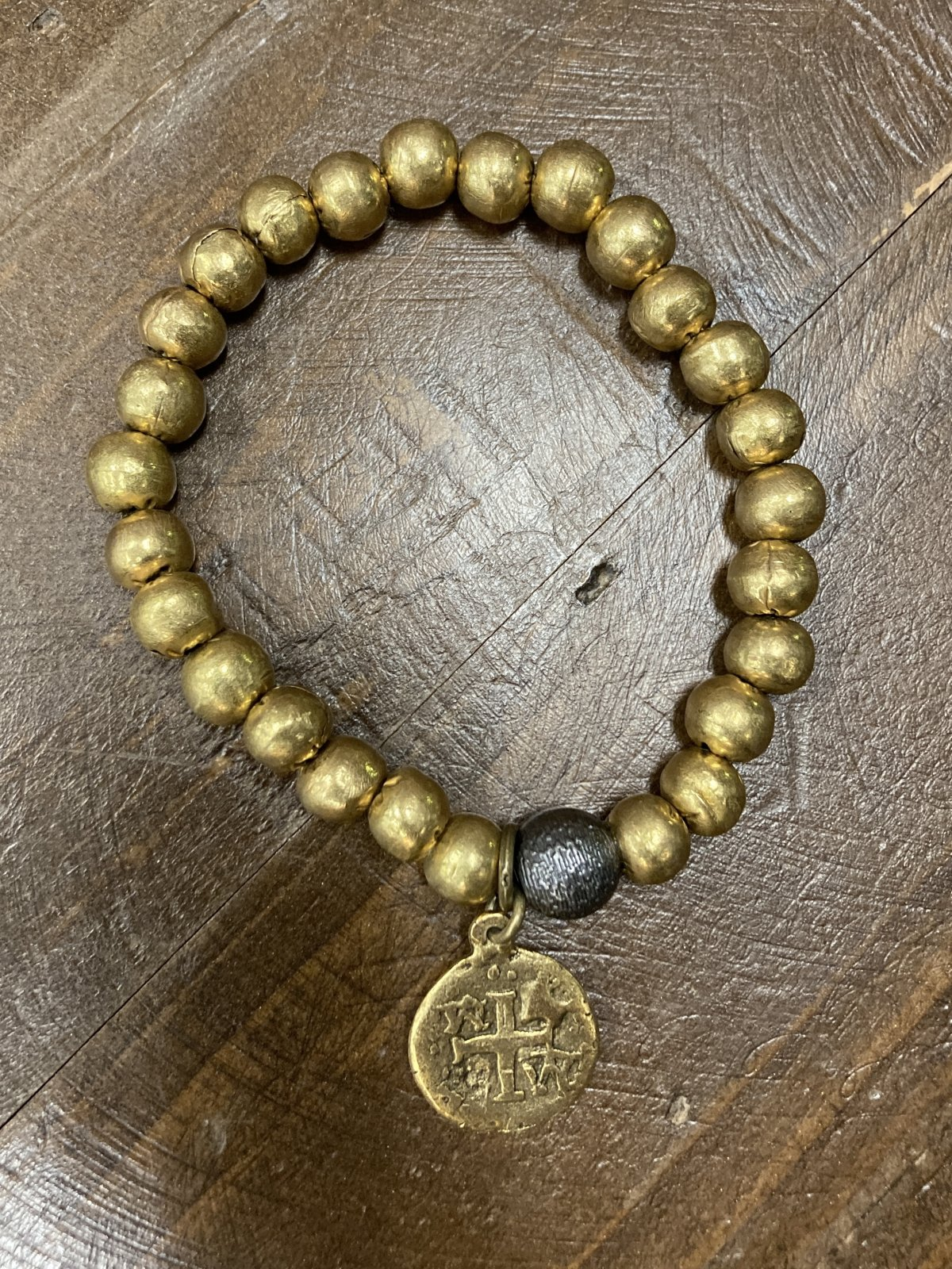 Gold Plated Beads With Charm
