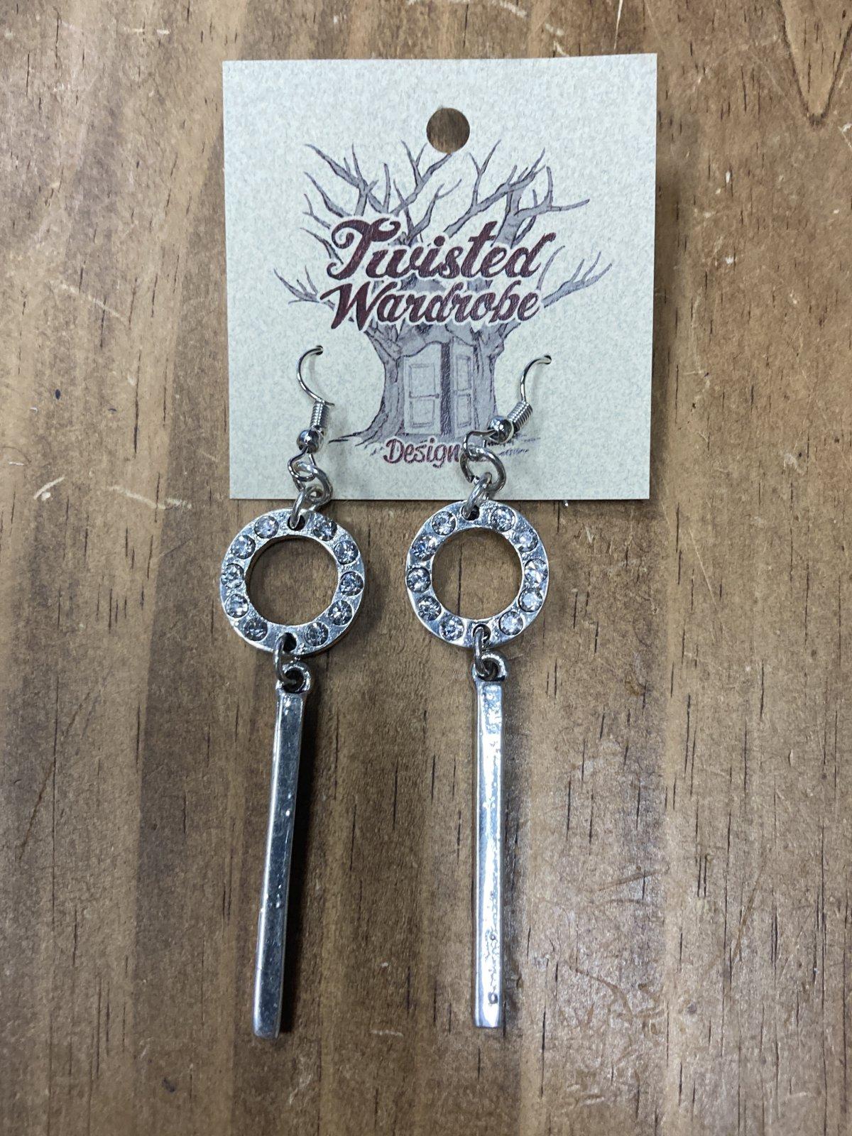 Silver Plated Drop Hoop