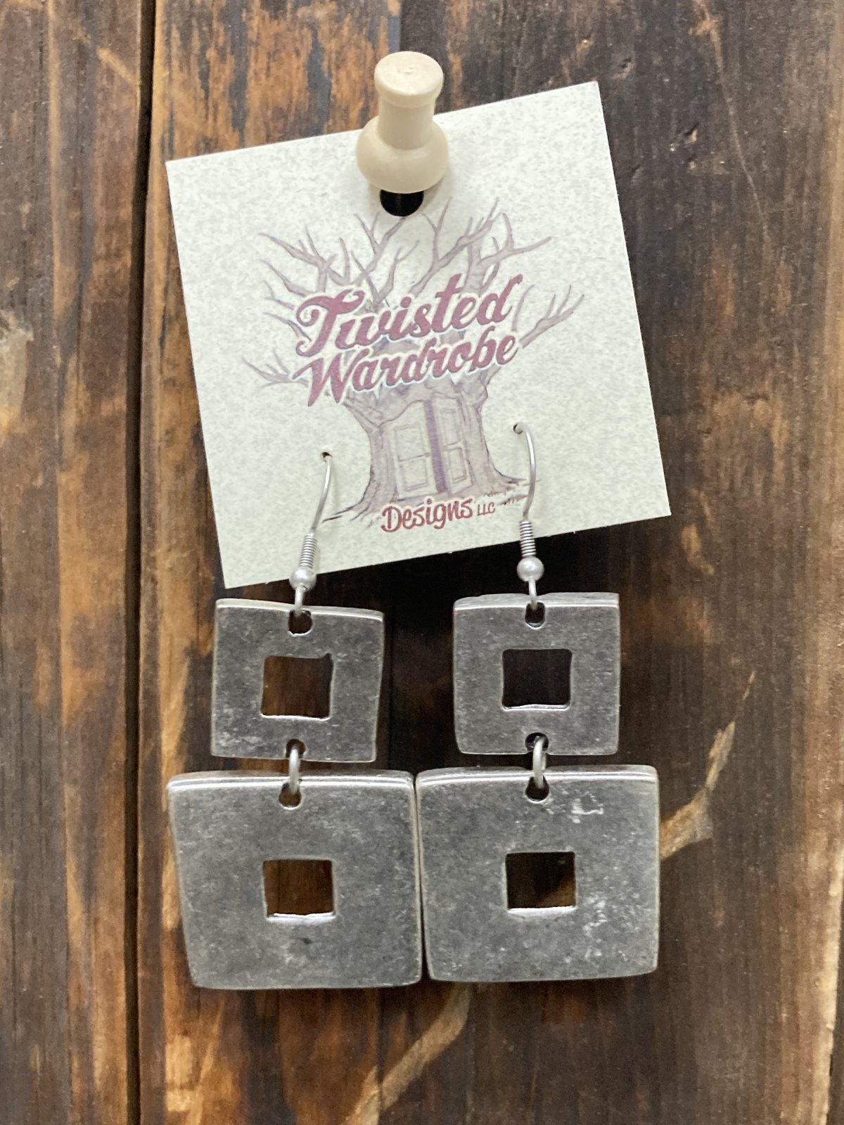 Silver Plated Multi Squares