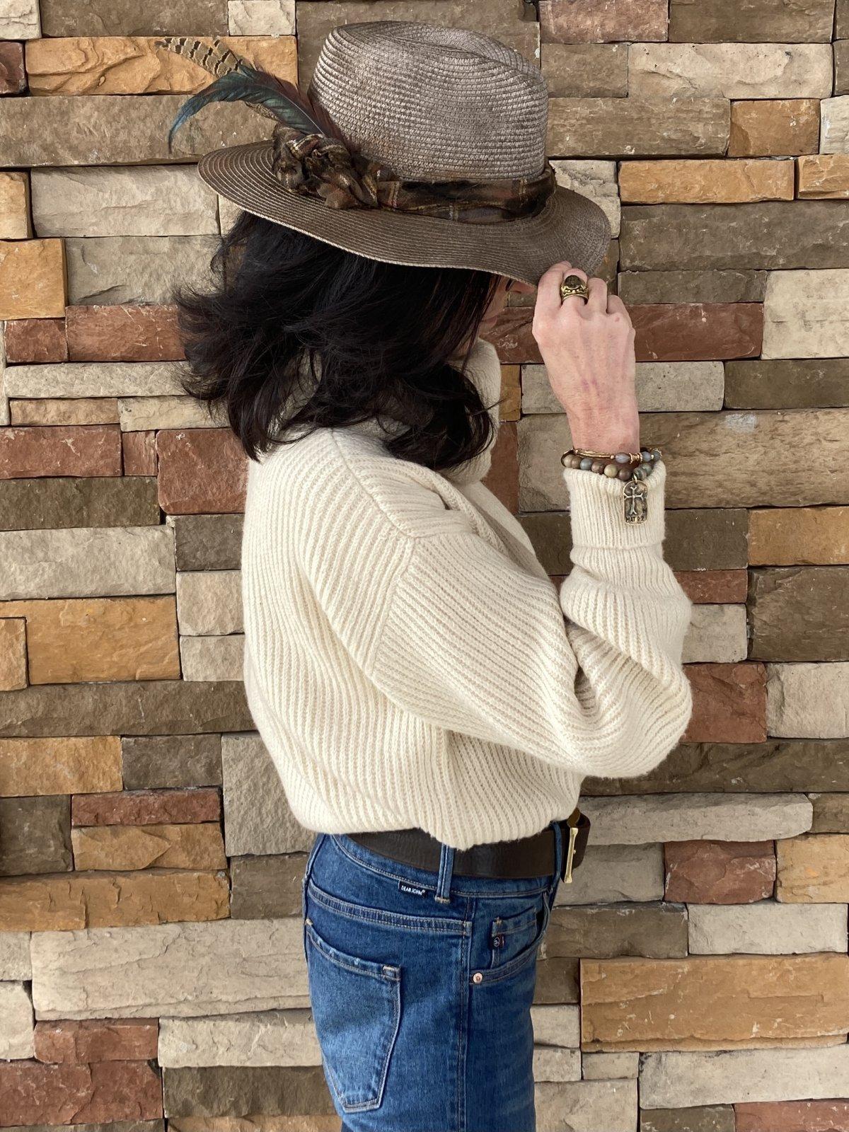 Braided Flannel Hat