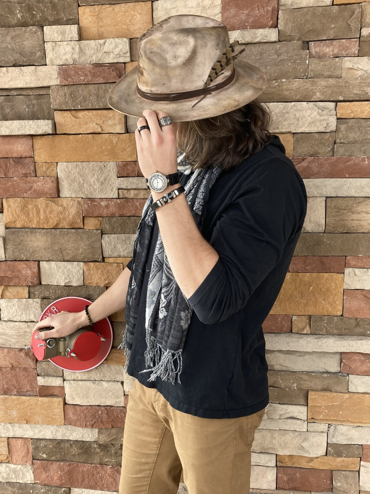 Leather Distressed Pops Hat
