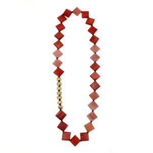 Omala Rosy Cheeks Necklace, Artisan Made