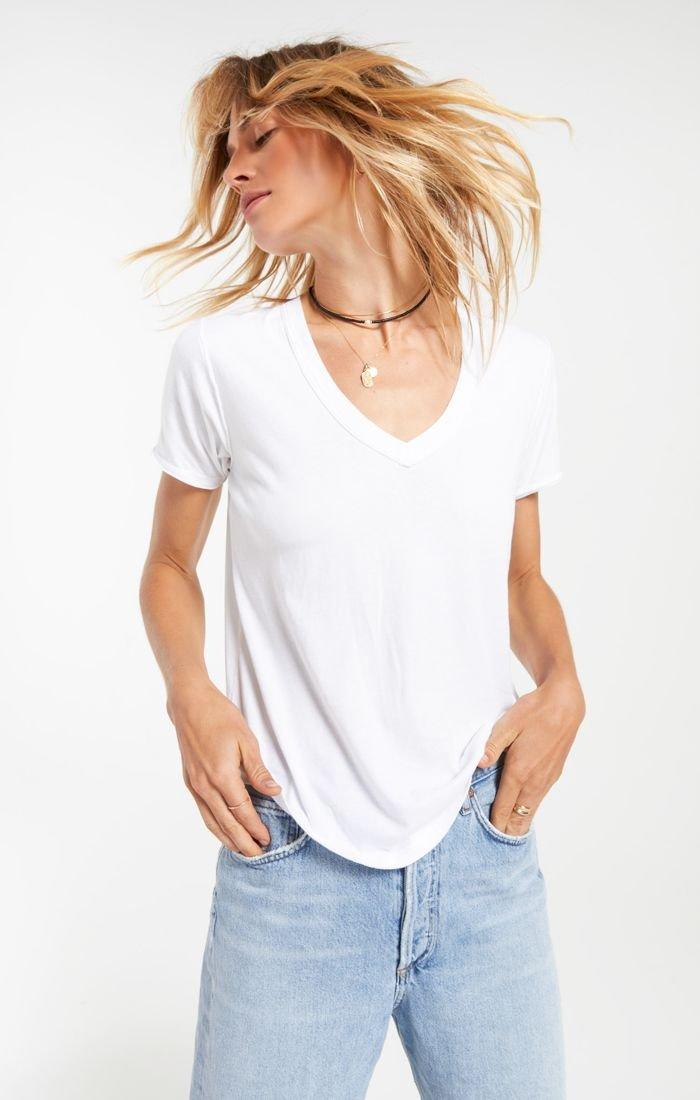 Organic Cotton V-Necks, White