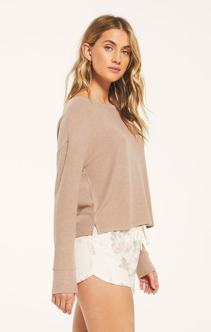 Rib Long Sleeve, Cocoa