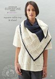 Cleckheaton square cable top & shawl