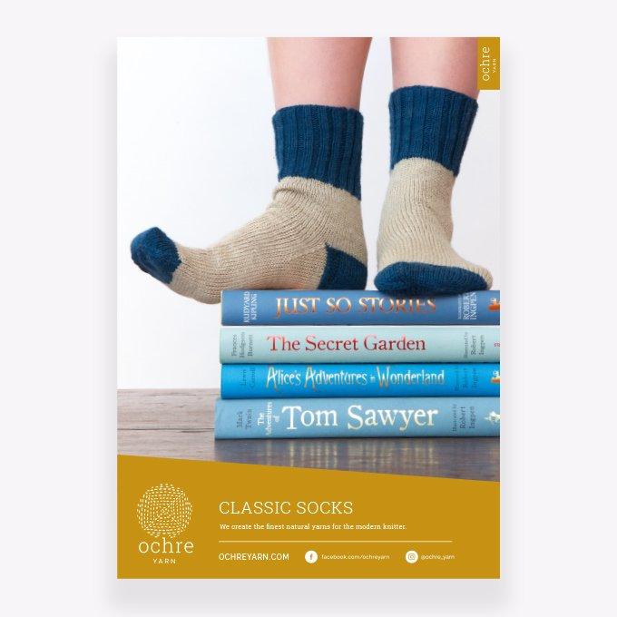 Ochre Classic Sock Pattern