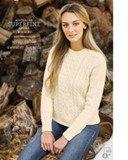 Cleckheaton  Wrap cable sweater & cardi