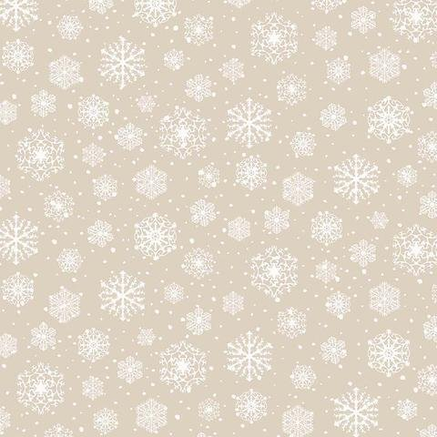 Frosted Forest - Beige Snowflake