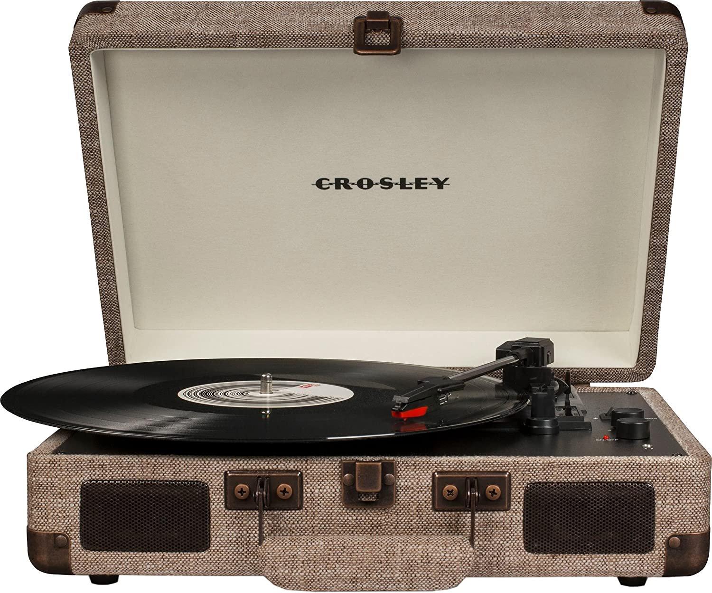 Crosley Cruiser Deluxe Turntable With Bluetooth - Havana Fabric CR8005D-HA