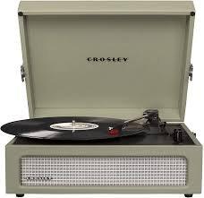 Voyager Portable Turntable - Sage  CR8017A-SA