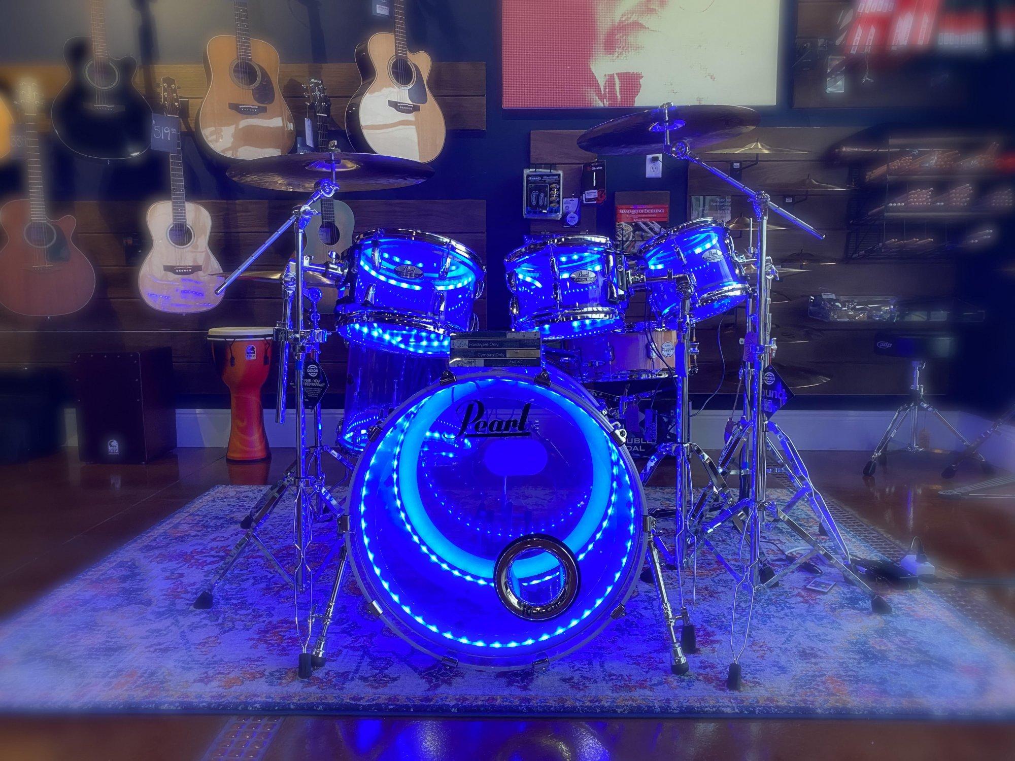 used* Pearl Acrylic Drum Shells DrumLite LED
