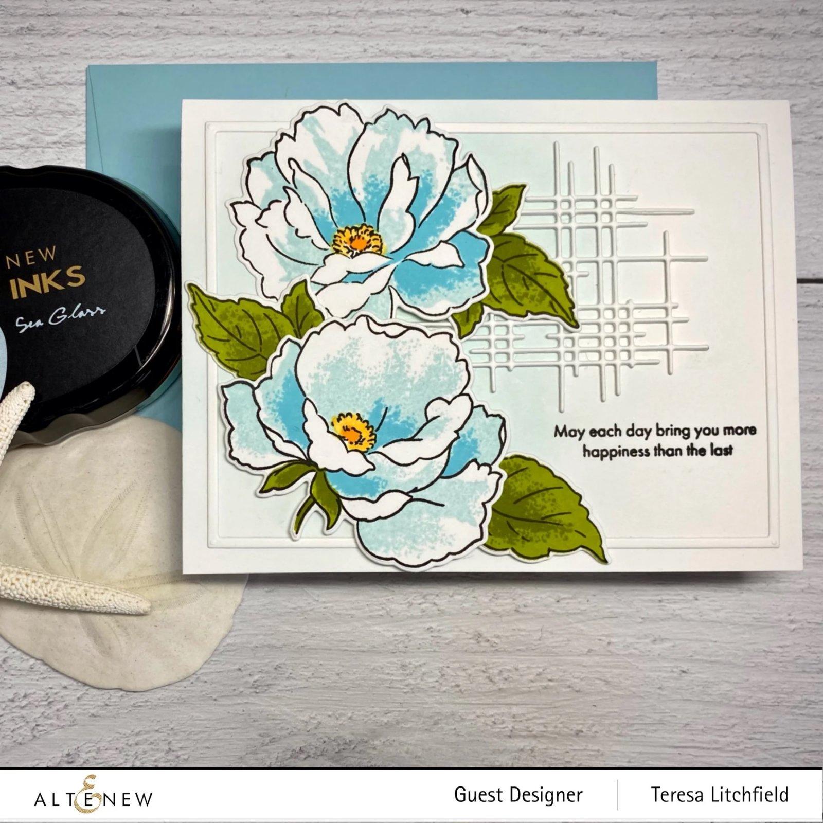 Airbrushed Flowers Die Set