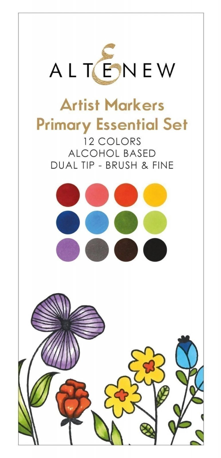 Artist Alcohol Markers Primary Essential Set