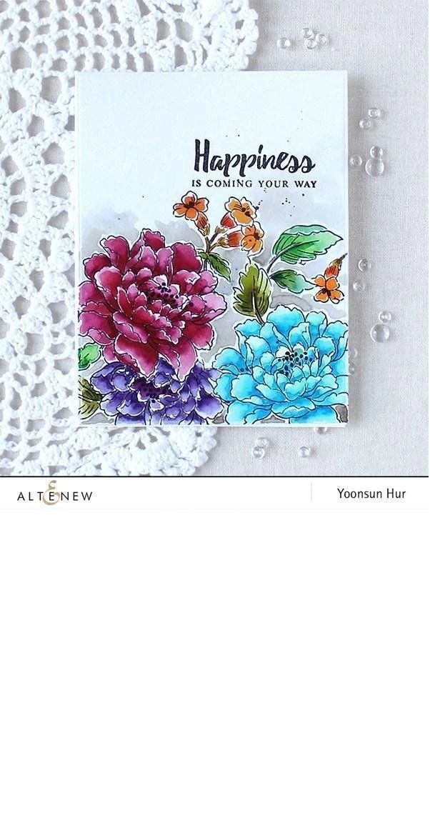 Build-A-Flower: Coral Charm Layering Stamp & Die Set