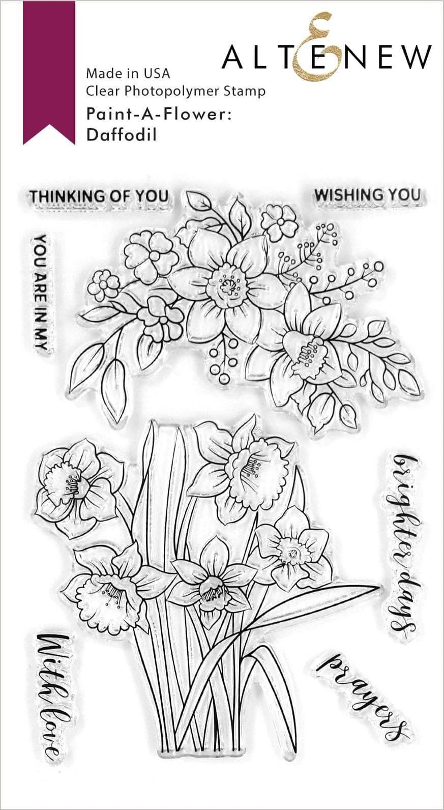 Paint-A-Flower: Daffodil Outline Stamp Set
