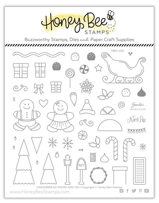 Gingerbread House Add-on | 6x6 Stamp Set