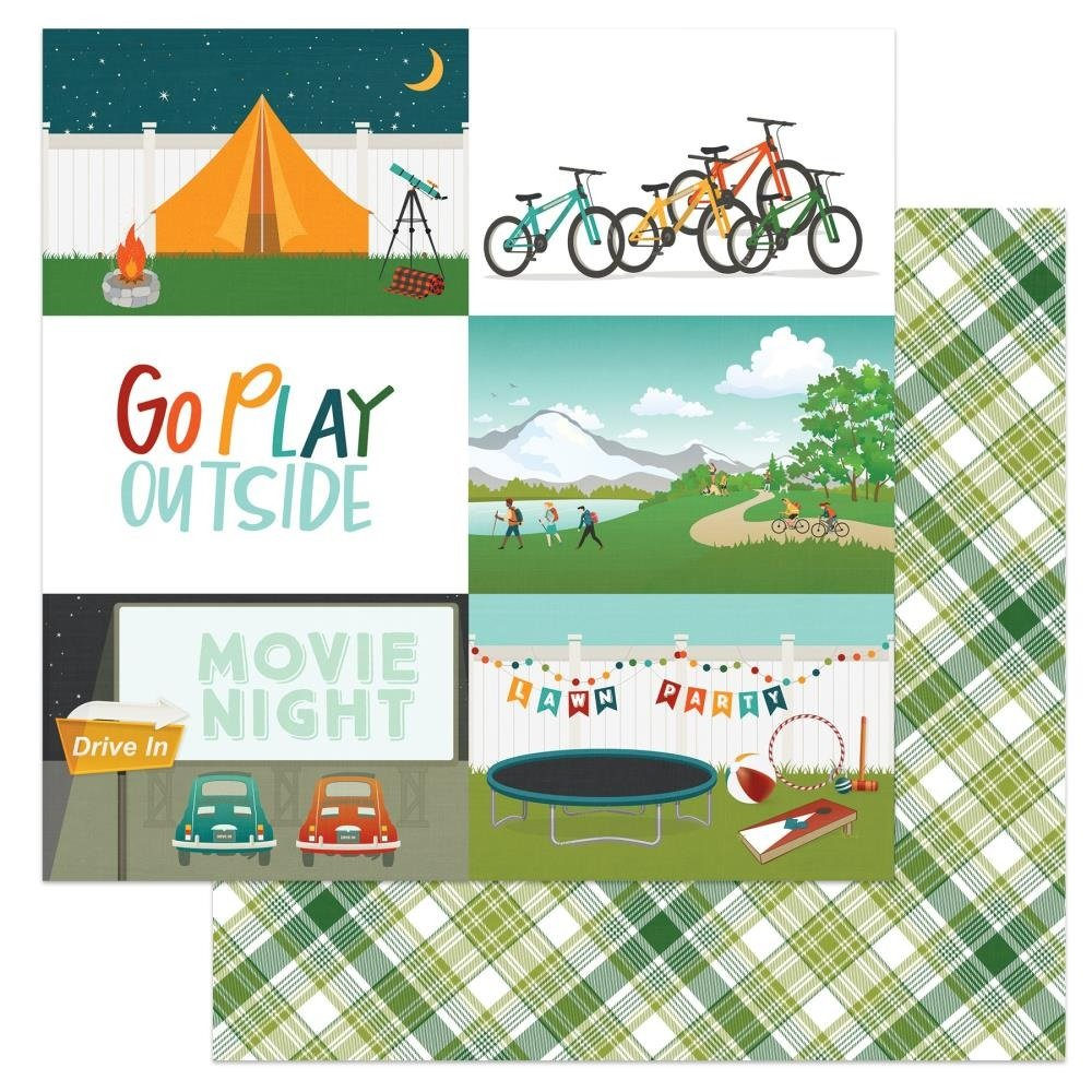Cabin Fever Double-Sided Cardstock 12X12-Go Play Outside