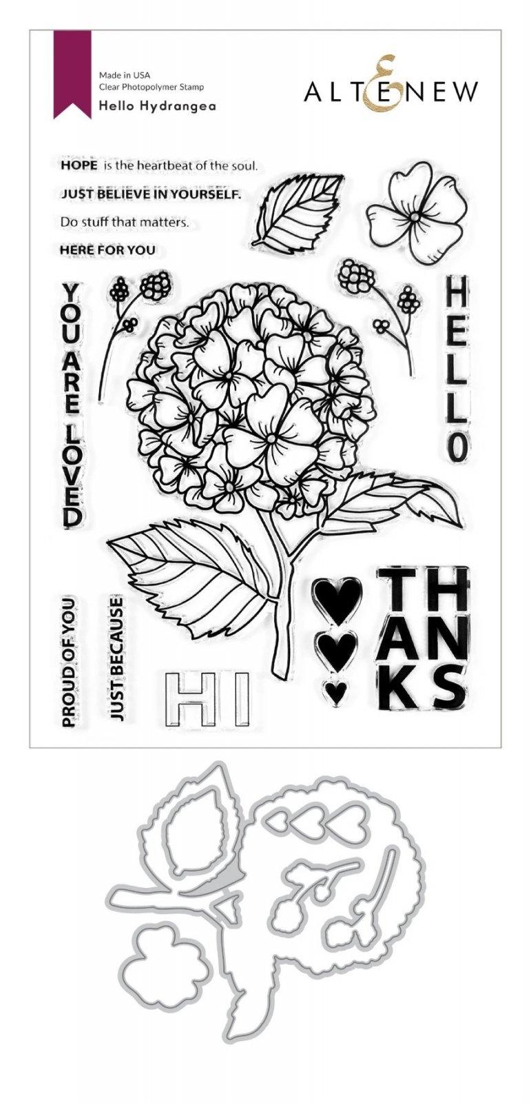 Hello Hydrangea Stamp & Die Bundle