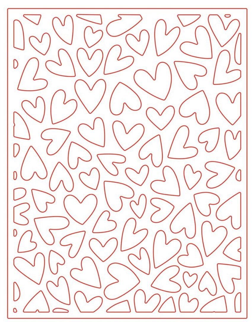 Fluttering Hearts Cover Plate