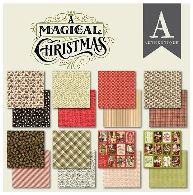 Authentique Double-Sided Cardstock Pad 6X6 24/Pkg-A Magical Christmas