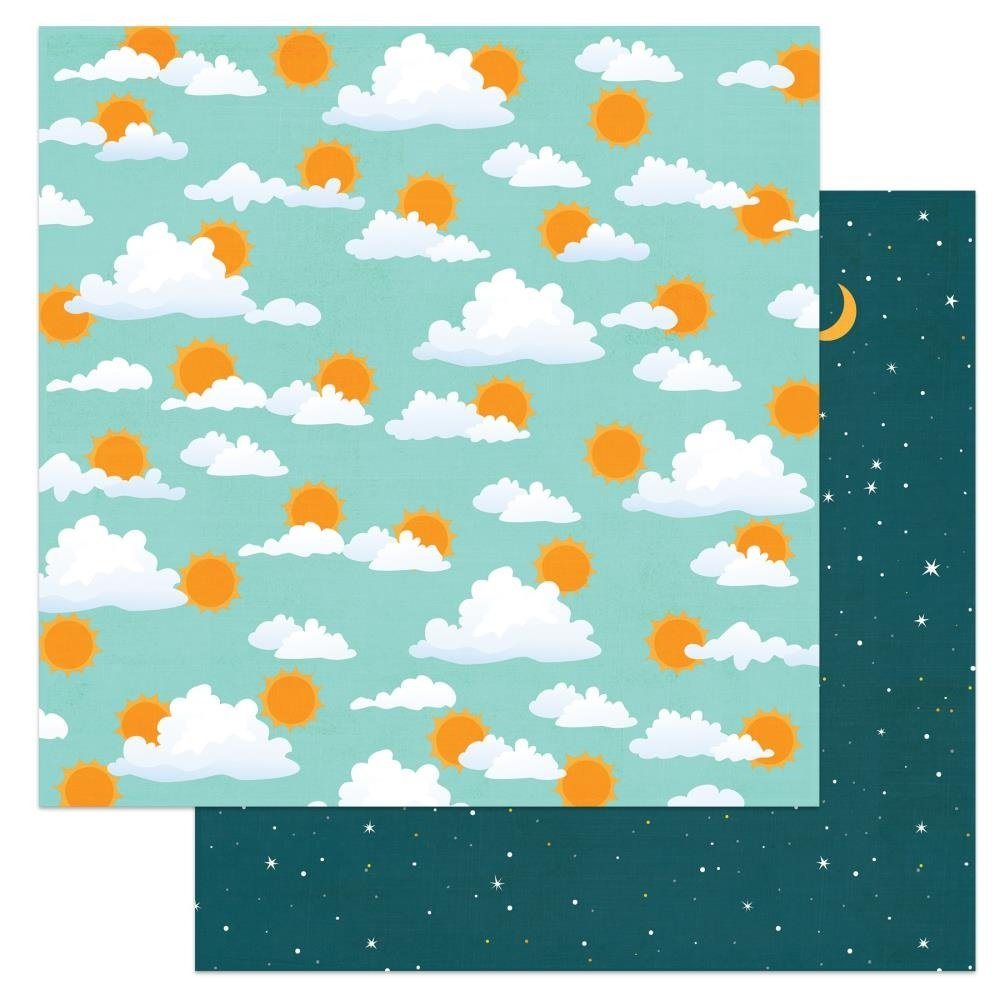 Cabin Fever Double-Sided Cardstock 12X12-Morning Till Night