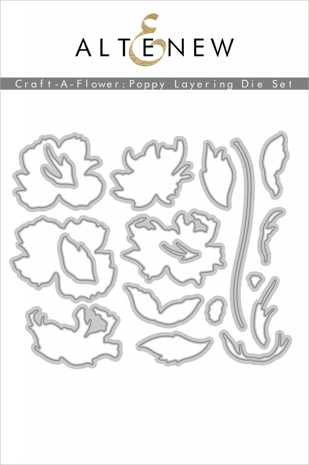 Craft-A-Flower: Poppy Layering Die Set