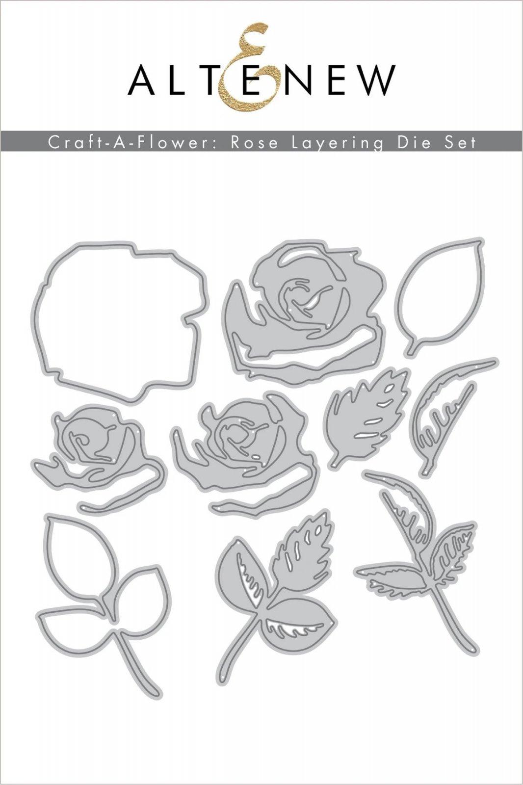 Craft-A-Flower: Rose Layering Die Set