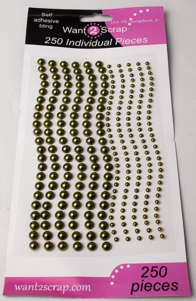 250 Count Pearls Sage Green