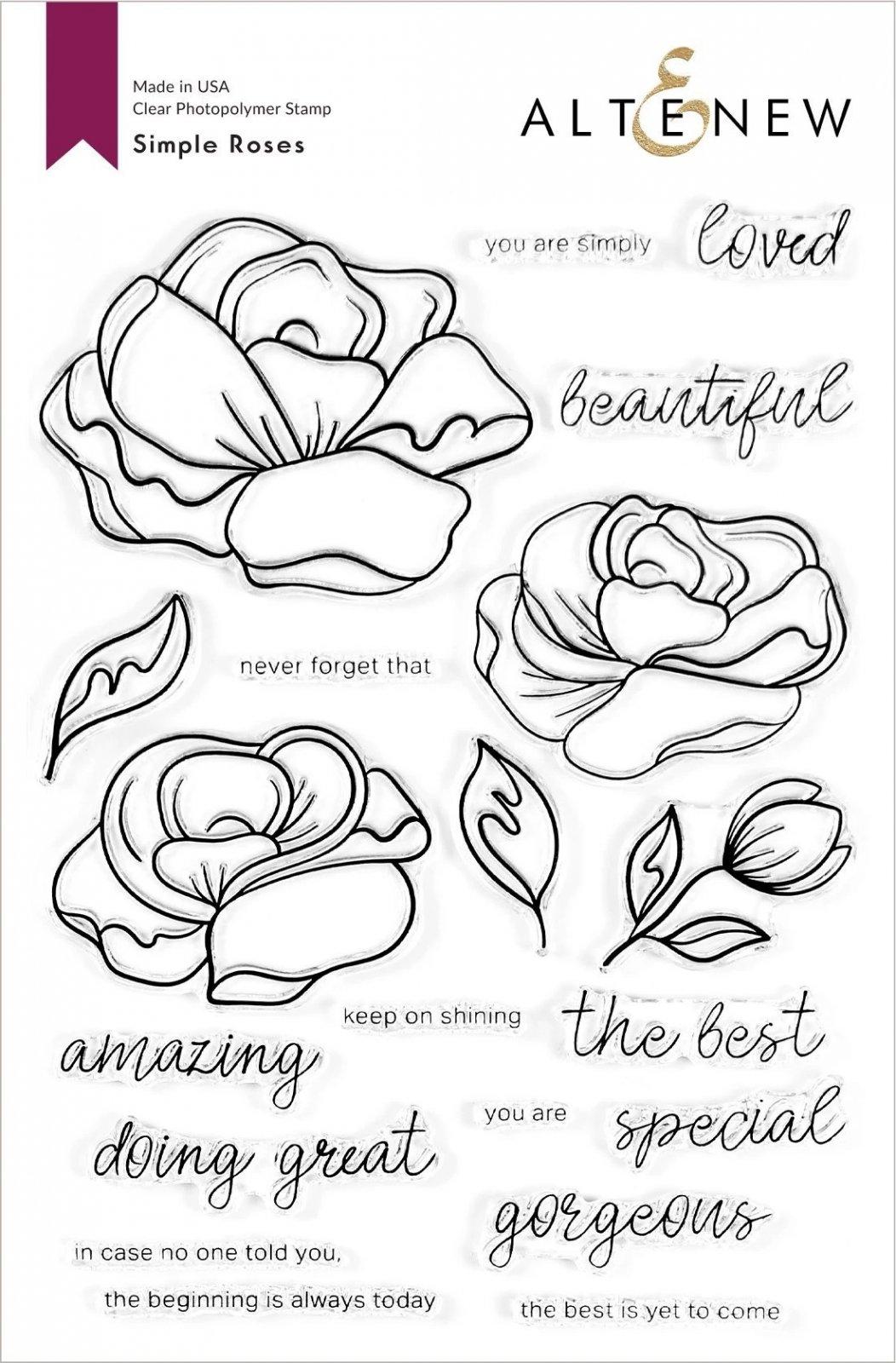 Simple Roses Stamp Set