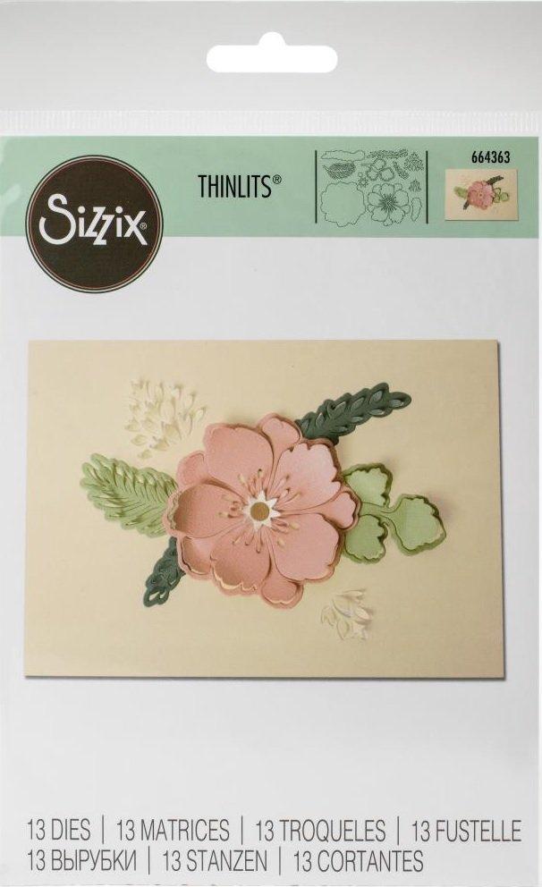 Sizzix Thinlits Dies 13/Pkg-Peony Pop-Up