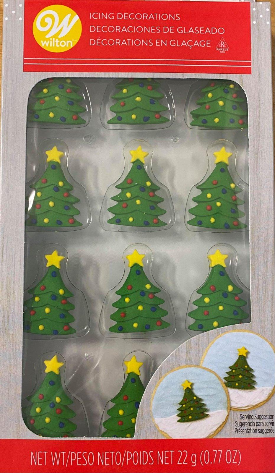 Christmas Tree Icing Decorations