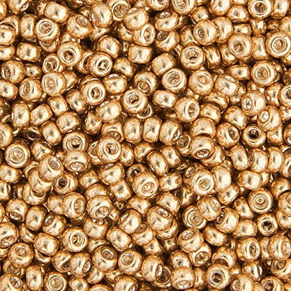 Miyuki Seed Bead 6/0 apx.22g Gold Galvanized