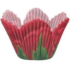 Red Rose Petal Baking Cups