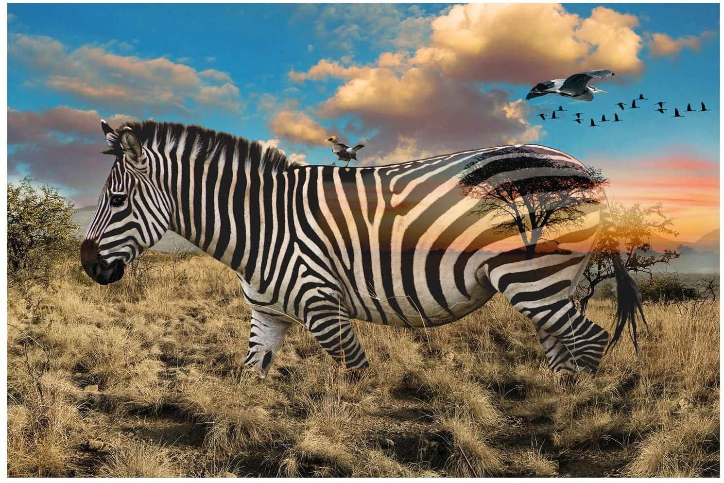 Call of the Wild Zebra Panel
