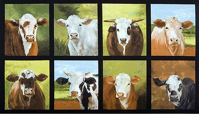 Down on the Farm Cow Panel