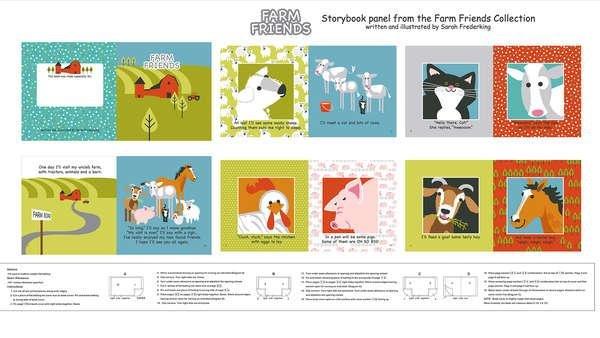 Farm Friends Book Panel