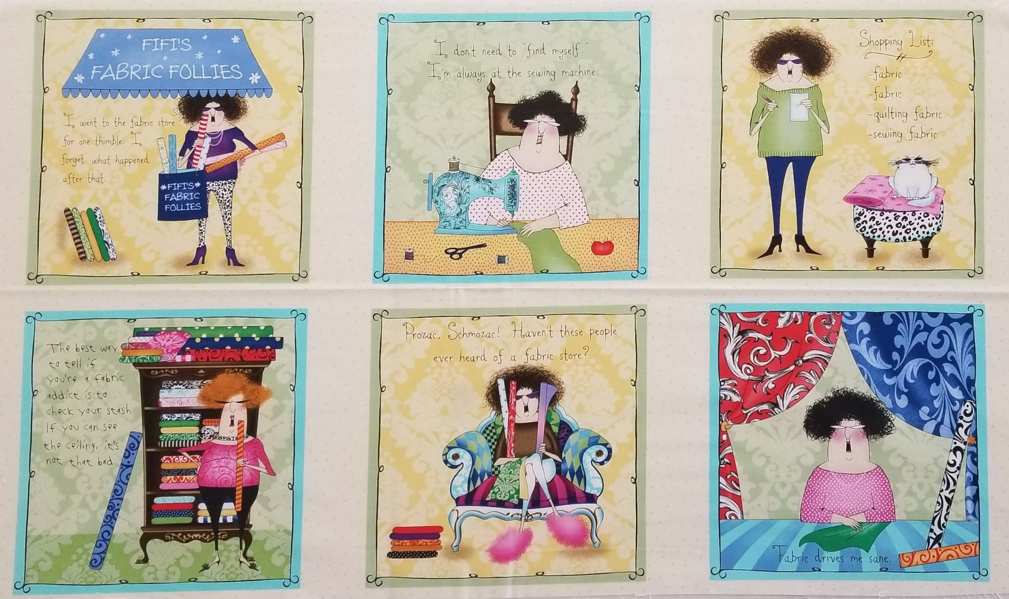 Fifi's Fabric Follies Panel
