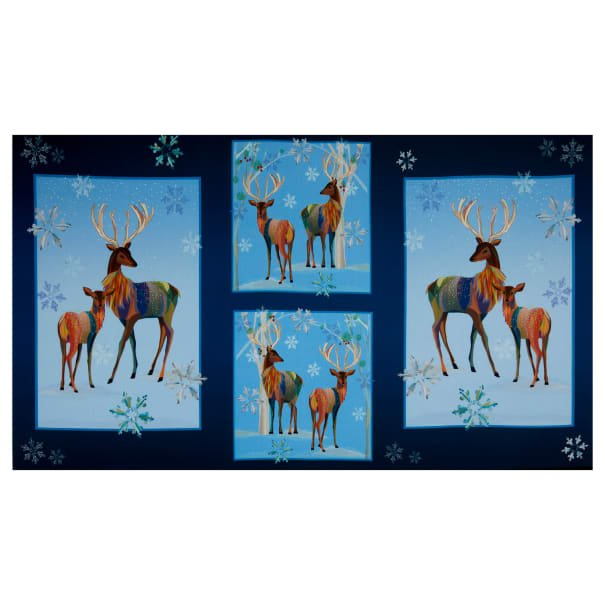 First Frost Deer Panel