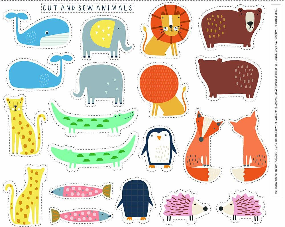 Habitat Cut and Sew Animals Panel