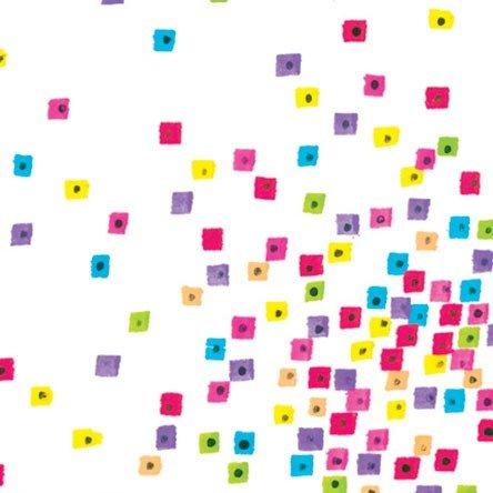 Laurel Burch Basic Confetti - White Multi