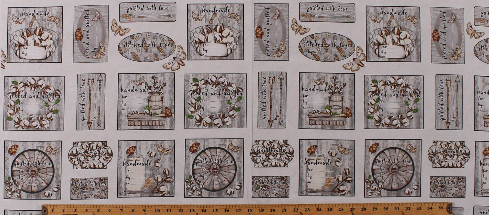Love-4-Cotton Quilt Label Panel