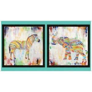 Zebra & Elephant Panel