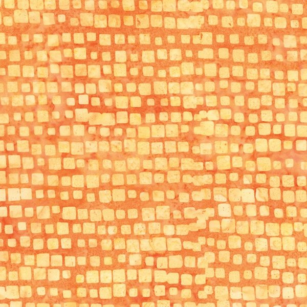 Bali Batik - Stepping Stones - Tangerine