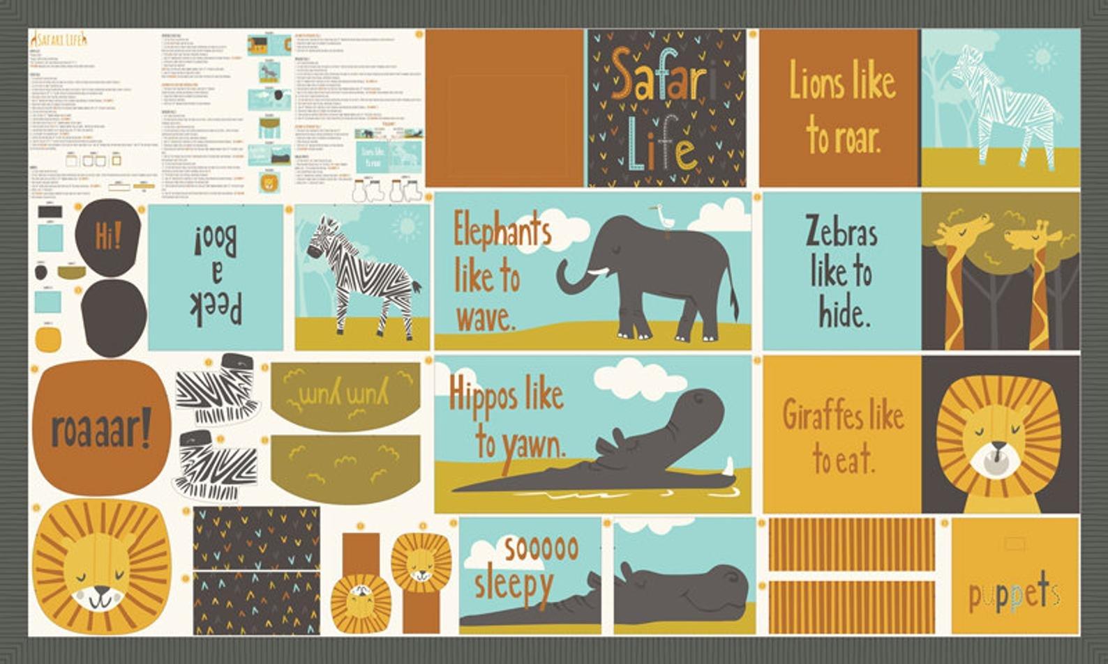 Safari Life Book Panel