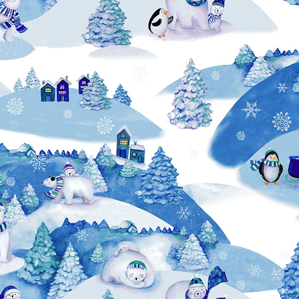 Snowville - Winter Toile / Blue