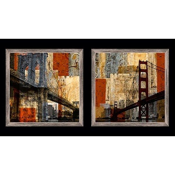 Quilting Treasures San Francisco & Brooklyn Bridges Panel