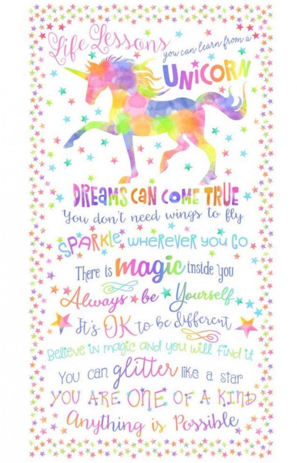 Unicorn Life Lessons Panel